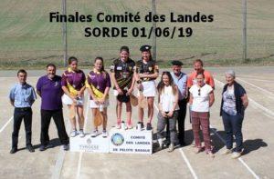 Le 01/06/19 SORDE Finale PGP Féminines Cadettes et Grosse Pala Séniors 1°Série